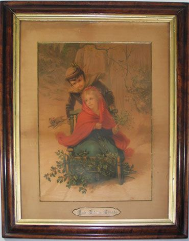 Yule Tide in Canada Chromolithograph