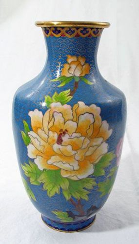 Cloisonne Vase with Floral Motif