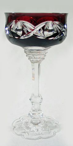 Cut Glass Ruby Compote