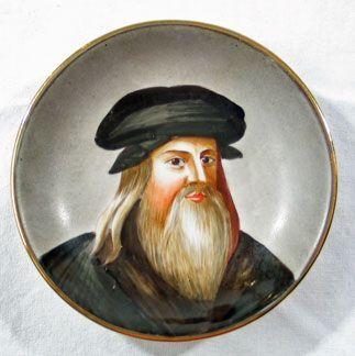 Leonardo Miniature Portrait Plate
