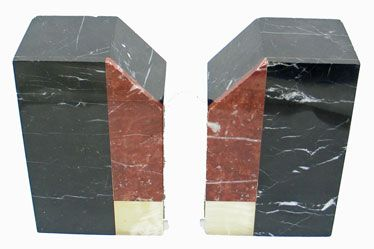 Marble Book Ends, Pair