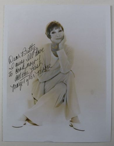 Mary Tyler Moore Autographed Photograph