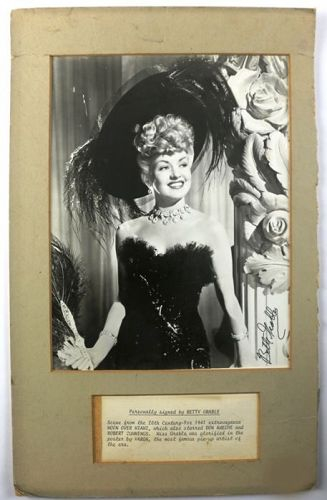 Betty Grable Autograph