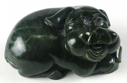 Chinese Carved Jade Pig