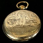 14k Gold Engraved Locket, c. 1840
