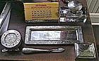Six Piece Meridian Sterling Desk Set, c. 1897