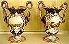 Pair of English Chamberlain Worcester Vases, c. 1845-5