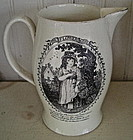 English Liverpool Creamware Pitcher, c. 1810