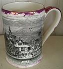 English Sunderland Motted Lustre Mug, c. 1835