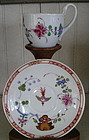 German Meissen Chocolate Cup & Saucer, c. 1774-1815