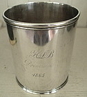 Early Philadelphia Coin Silver Julep Cup, c. 1825-46