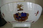 Chinese Export Armorial Famille Rose Bowl, c. 1820-30