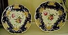 Pair of English Coalport Porcelain Plates, c.1840