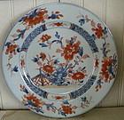 Chinese Imari Porcelain Plate, c. 1770