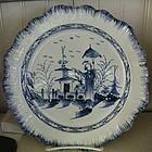 English Liverpool Pearlware Plate, c. 14790-1810