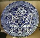 English Clews Blue & White Pottery Soup Bowl, c. 1820