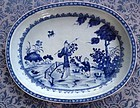 Chinese Export Porcelain Blue & White Deep Platter 1750