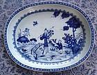 Chinese Export Porcelain Blue & White Deep Platter 1750