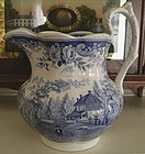 Historical Richard Jordan Blue & White Pitcher, c. 1830