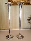 Pair of American Sterling Silver Trumpet Vases, c. 1876