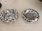 Pair of Gorham Sterling Silver Nut Dishes, c. 1900