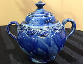 American South Jersey Porcelain Sugar Bowl, c. 1815