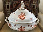 Hungarian Handpainted Herend Porcelain Soup Tureen, c. 1890