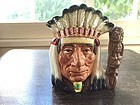 Small American Indian Royal Doulton Toby Jug, dated 1966