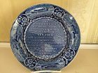 American Historical Staffordshire Blue & White Plate, c. 1825, DeWitt