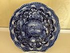 American Historical Staffordshire Dark Blue & White Plate, c. 1820