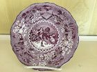 Early English Staffordshire Mullbery Plate, c. 1830 Peace on Earth