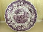 American Historical Staffordshire Mulberry Richard Jordan Plate, 1830