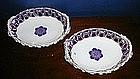 Worcester Porcelain Reticulated Baskets, c. 1770