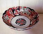Imari Scalloped Porcelain Footed Bowl, c. 1890