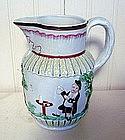 Scottish West Coast Pottery Prattware Jug, c. 1790