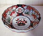 Japanese Imari Footed Scalloped Footed Bowl, c. 1880