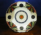 English Worcester Plate, c. 1768-70, Old Japan Fan