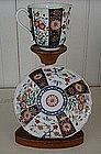 English Worcester Paneled Tea Cup and Saucer, c. 1770