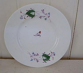 English Staffordshire Sprigware Cup Plate, c. 1840
