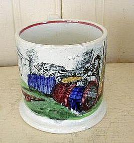 English Staffordshire Pearlware Child's Mug, c. 1830