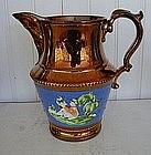 English Copper Lustre Jug, c. 1835