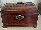 Chippendale George III Mahogany Tea Caddy, c. 1770