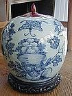 Chinese Export Porcelain Ginger Jar, c. 1860