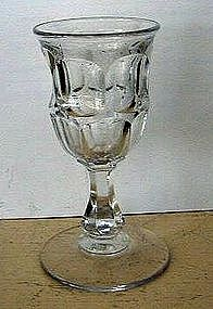 Early American Blown Flint Glass Wine, c. 1840
