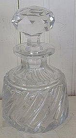 French Baccarat Cut Glass Perfume Bottle, c. 1920