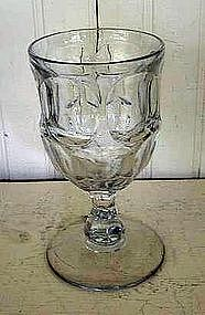 Early American Flint Glass Goblet, c. 1840