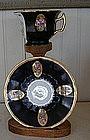 German Dresden Porcelain Cup & Saucer, c. 1930