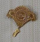 Gilt Bronze Delegate Medal to Fireman's Convention 1935