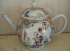Chinese Export Porcelain Tea Pot, c. 1765-70