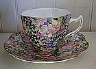 English Rosina Bone China Cup & Saucer, c. 1930-50